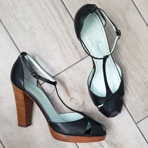 Anthropologie: Tracy Reese Tstrap stacked heel